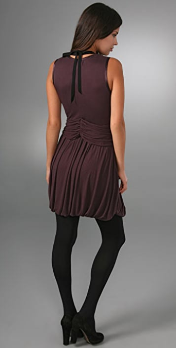 Robert Rodriguez Rib Dress with Necklace