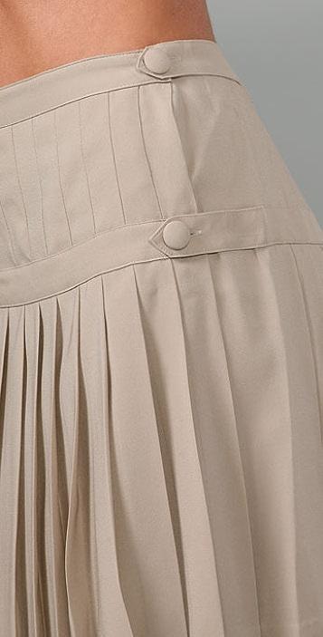 Robert Rodriguez Pleated Straight Skirt