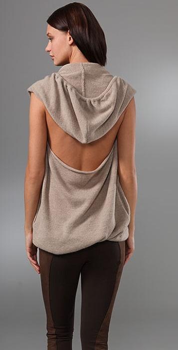 Robert Rodriguez Draped Back Hooded Sweater
