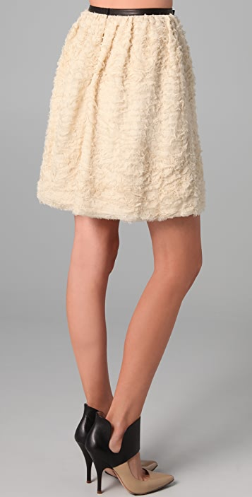 Robert Rodriguez Crinkle Chiffon Skirt