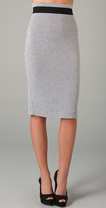 Robert Rodriguez Jersey Pencil Skirt