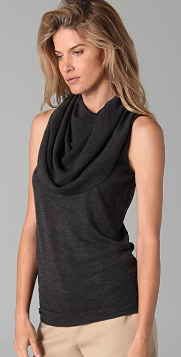 Robert Rodriguez Draped Collar Pullover Sweater