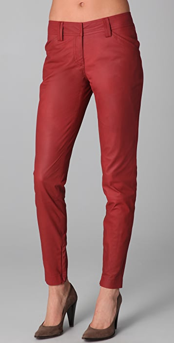 Robert Rodriguez Cropped Skinny Leather Pants