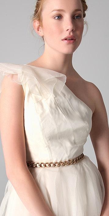 Robert Rodriguez Pamela One Shoulder Cocktail Dress