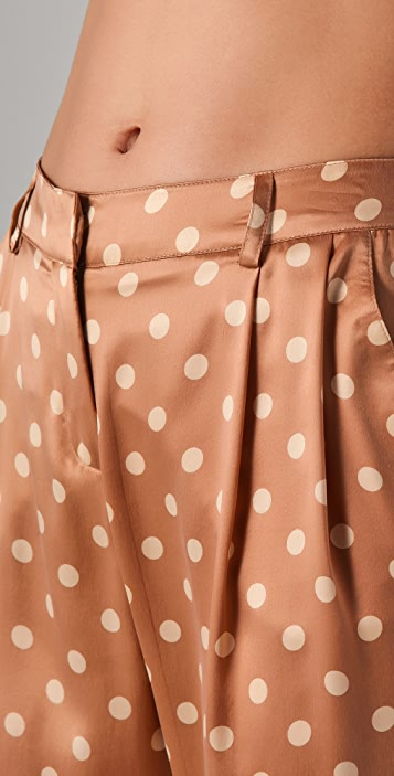 Robert Rodriguez Polka Dot Cropped Trousers