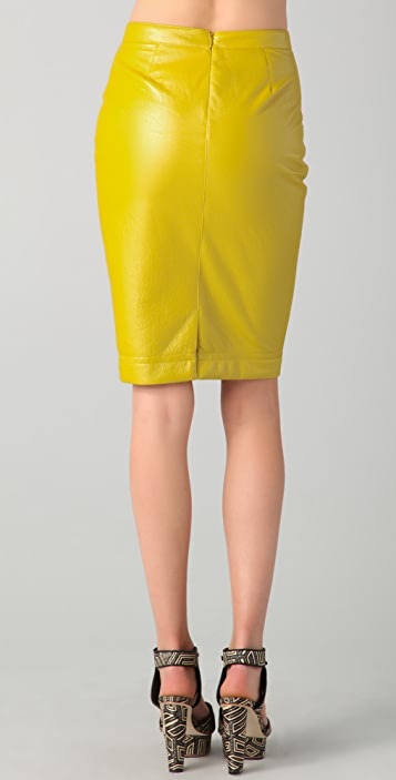 Robert Rodriguez Coated Pencil Skirt