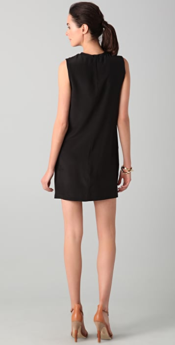 Robert Rodriguez Colorblock Rose Dress