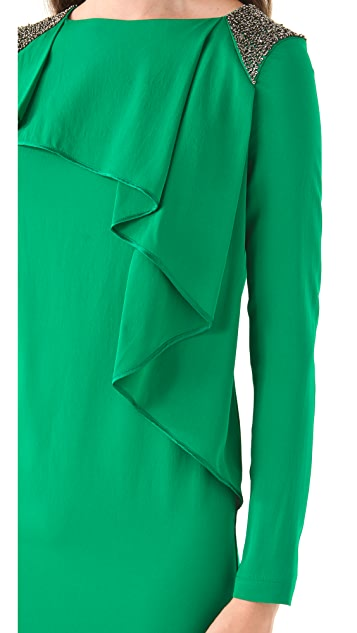 Robert Rodriguez Sheath Dress with Folds