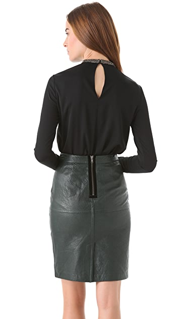Robert Rodriguez Folded Pleat Top