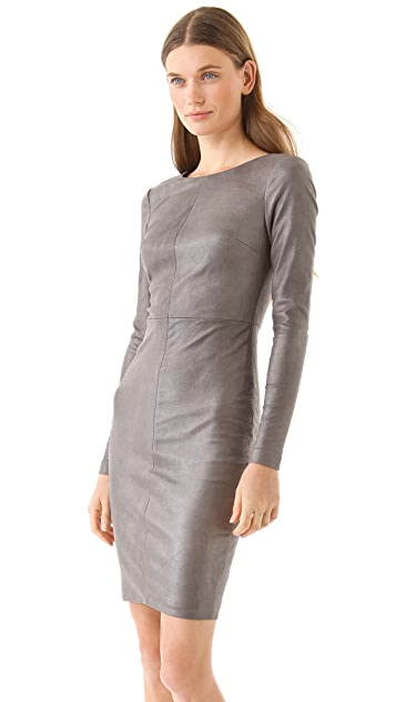 Robert Rodriguez Stretch Leather Dress