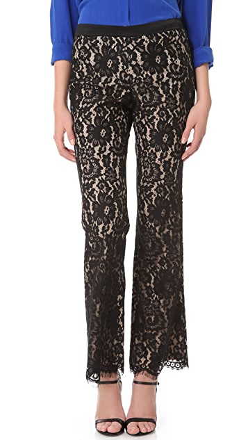 Robert Rodriguez Lace Trousers
