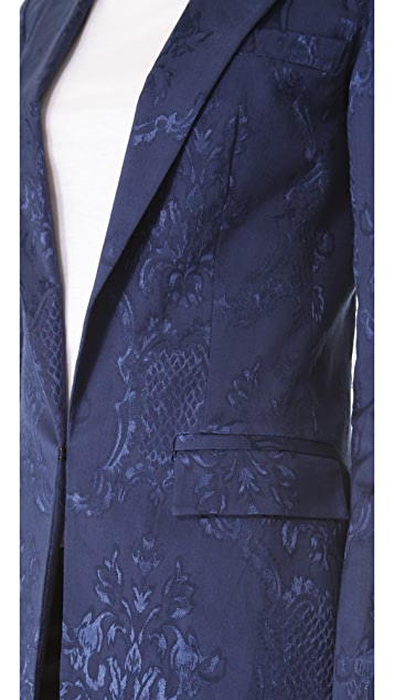 Robert Rodriguez Damask Jacquard Blazer