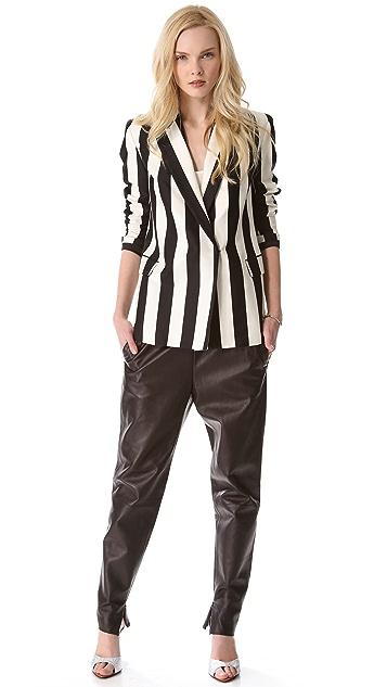 Robert Rodriguez Graphic Stripe Blazer
