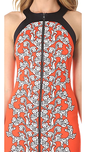 Robert Rodriguez Medallion Scroll Print Dress