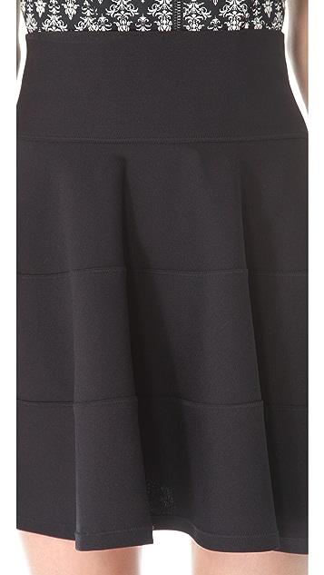 Robert Rodriguez Seamed Fit & Flare Skirt