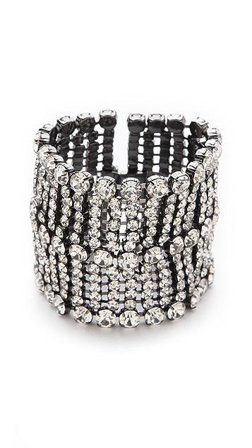 Robert Rodriguez Crystal Studded Wristband Cuff