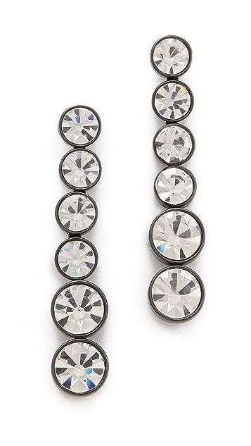 Robert Rodriguez Graduated Crystal Drop Earrings