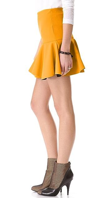 Robert Rodriguez Bonded Techno Flounce Skirt
