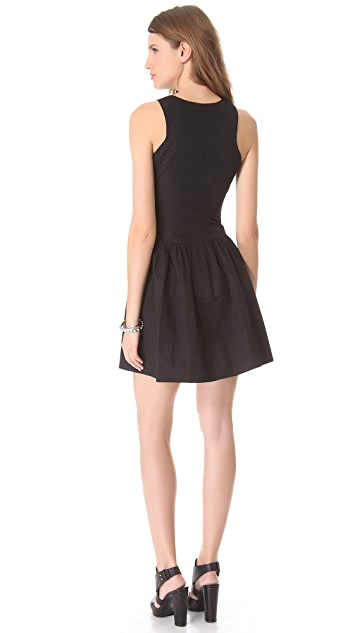 Robert Rodriguez Perforated Dress