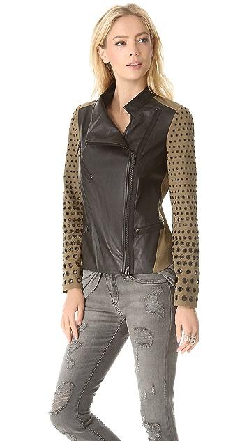 Robert Rodriguez Colorblock Grommet Jacket