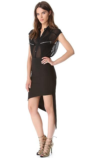 Robert Rodriguez Asymmetrical Skirt