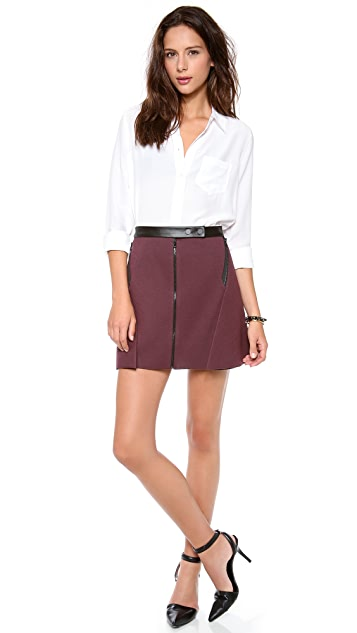 Robert Rodriguez Folded Double Face Skirt