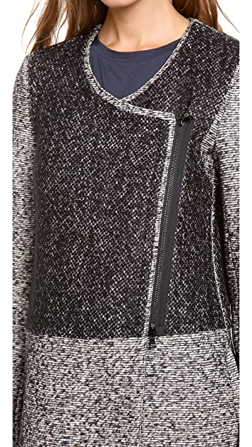 Robert Rodriguez Tweed Car Coat