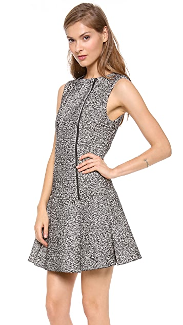 Robert Rodriguez Tweed Zip Flare Dress