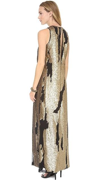 Robert Rodriguez Distressed Sequin Gown