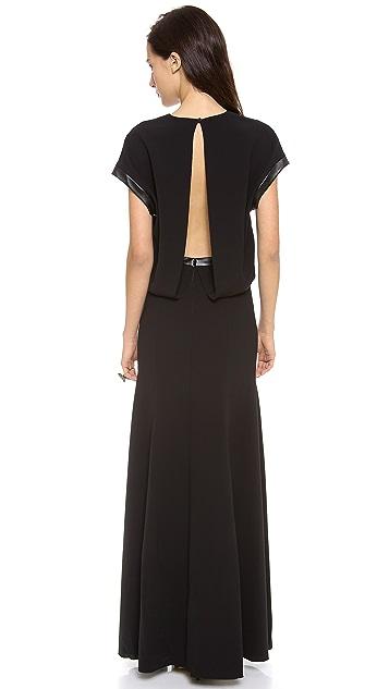 Robert Rodriguez Techno Crepe Gown