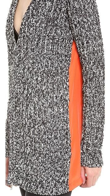 Robert Rodriguez Tweed & Silk Cardigan
