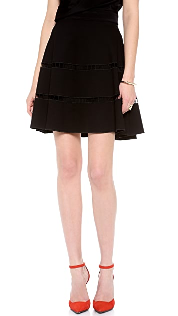 Robert Rodriguez Embroidered Skirt