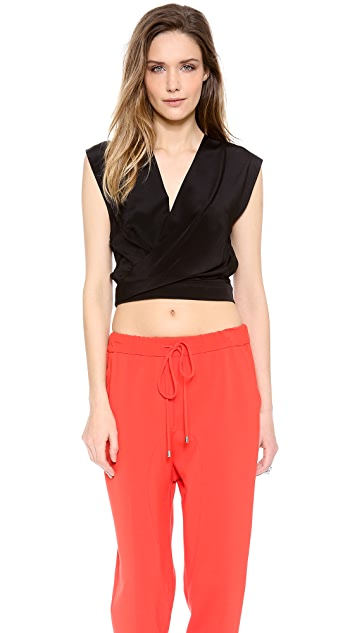 Robert Rodriguez Silk Crop Top