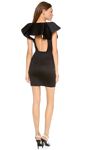 Robert Rodriguez Bonded Neo Deep V Dress