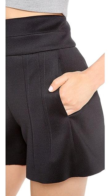 Robert Rodriguez Neoprene High Waisted Shorts