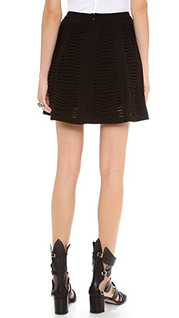 Robert Rodriguez Vertebrae Panel Skirt