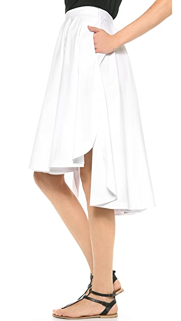 Robert Rodriguez Long Shirttail Skirt