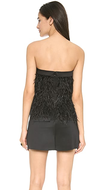 Robert Rodriguez Ostrich Feather Top