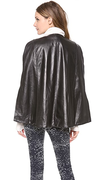 Robert Rodriguez Leather Cape