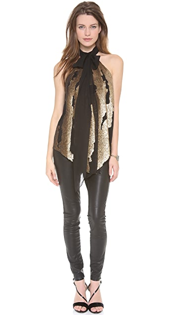 Robert Rodriguez Distressed Sequin Top