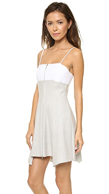 Robert Rodriguez Bonded Pleat & Flare Dress