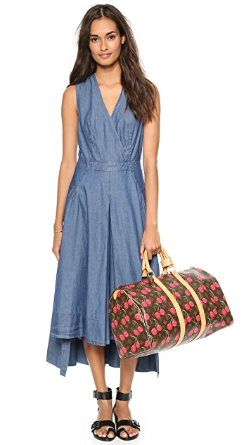 Robert Rodriguez Chambray Seamed Maxi Dress