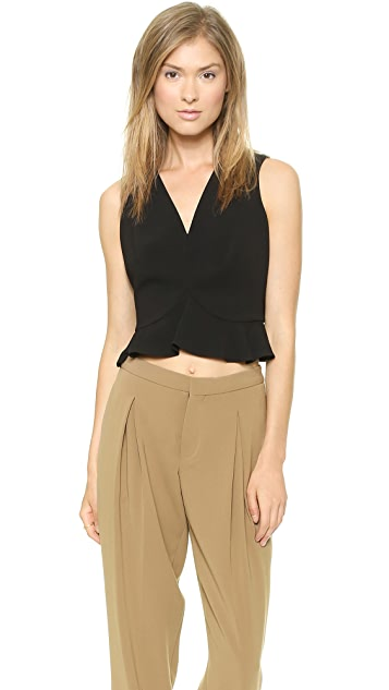 Robert Rodriguez Flounced Crop Top