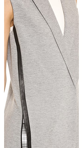 Robert Rodriguez Leather Trimmed Vest