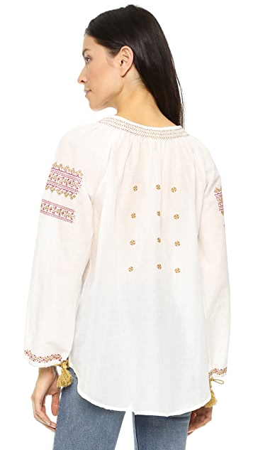 Roller Rabbit Romania Embroidered Blouse