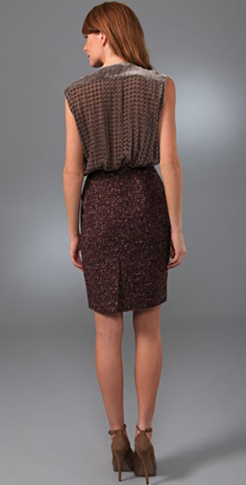 Rachel Roy Mix Media Soft V Dress