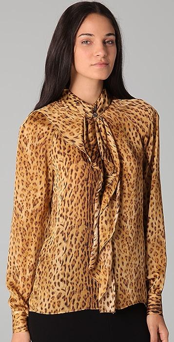 Rachel Roy Cascade Cheetah Blouse