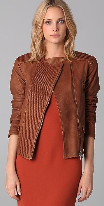 Rachel Roy Moto Leather Jacket