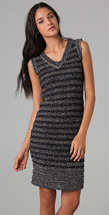 Rachel Roy Striped Lurex Knit Dress
