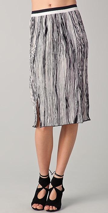26fd002fb0a4 Rachel Roy Pleated Striped Skirt | SHOPBOP